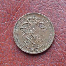 Belgium 1862 copper centime