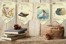 Vintage Style Nautical Seaside Beach Bunting/Banner & Ribbon - 3m