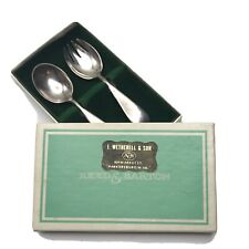 Reed Barton Silver Baby Child Spoon Fork Set Wetherell Jewelers Parkersburg WV