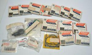 Lot of NOS Genuine Yamaha Parts - Piston Rings, Cap, Pilot Jet - Vintage Parts