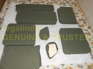 COMPLETE CANVAS SEAT CUSHION SET FOR MILITARY JEEP FORD WILLYS MB GPW 1941-48