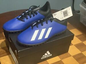 Kids adidas X 19.4 TF J Turf Soccer Cleat Shoes FV4662 - Size US 1 UK 13.5 K