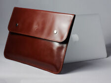 Tan/Brown Premium Genuine Leather Sleeve for Macbook Air/Pro 13 Retina/Touch Bar