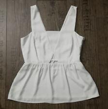 ZARA ❤ Cut Out Top M38 weiß Peplum Schößchen Bluse CorsagenOptik ausgestellt NEU