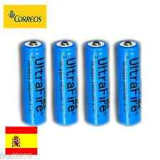 4X PILA RECARGABLE 18650 2400mAh Li-ion 3,7V UltraFire Litio Batería