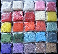 Huge Lot 25 Assorted Colors of Japanese Miyuki Glass 4mm Cube Beads 2100+ Beads!