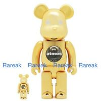 Medicom Bearbrick Atmos 400% & 100% Chrome Gold Stars Be@rbrick Boxset 2pc