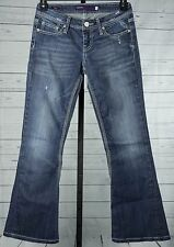 VIGOSS COLLECTION women's dark blue jeans distressed flare size 3