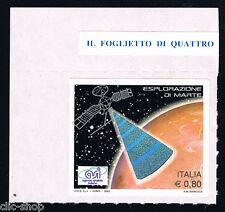 ITALIA 1 FRANCOBOLLO ESPLORAZIONE DI MARTE ASI SPAZIO 2005 nuovo**