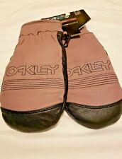 OAKLEY Unisex Goatskin Leather Mittens size XS Black & Lilac