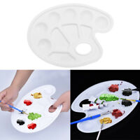 Painting Tool Artist Watercolor Oil Mixing Paint Palette Tray with Thumb Hole US