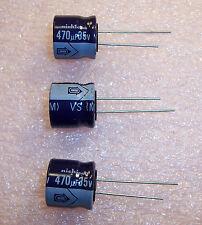 QTY (10) 470uf 35V 16x15mm RADIAL ALUMINUM ELECTROLYTIC UVS1V471MCA NICHICON
