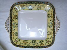 "WEDGWOOD INDIA SQUARE HANDLED CAKE PLATE 10.75"" (CAHS) MADE IN UK / ENGLAND -NEW"