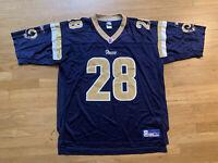Vintage Marshall Faulk St. Louis Rams NFL Jersey Size Mens XL Blue Reebok