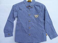 Steiff Wiesen Boy Check Shirt, Blue Size 116