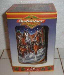 20th Anniversary Budweiser Holiday Collector Stein 1900-1999 #CS389