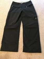 Womens Salomon Ski Snowboard Pants Black EUC Fleece Lined Cordura