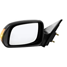 Fits 11-16  TC Left Driver Mirror Power Non-Painted Black With Signal