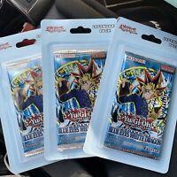 YuGiOh LEGEND OF BLUE EYES WHITE DRAGON LOB Sealed Blister Booster Packs. Lot 3