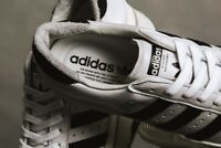 Adidas Originals Superstar 80s Recon Off White UK 8 Stan Smith Gazelle OG Black