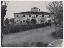 D6754 Tipo di casa colonica della Val di Chiana - Stampa d'epoca - 1930 print