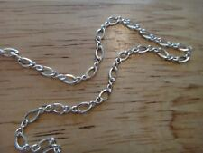 """24"""" Sterling Silver TINY 2 mm Figure 8 Fine Chain Necklace"""