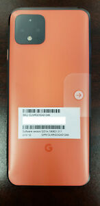 Google Pixel 4 G020I - 64GB - Just Black - Orange - White Verizon Locked