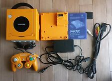 Gamecube Spice Orange Console set + Gameboy Player +Disc Nintendo Bundle Tested