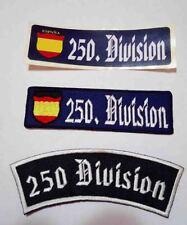JISS 1 PEGATINA Y 2 PARCHES , 250 DIVION , DIVISION AZUL , CRUZ DE HIERRO