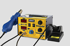 UK-YIHUA 862D SMD HOT AIR REWORK STATION WITH SOLDERING IRON NEW 220V