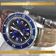Seiko 5 Automatic Diver Sports Watch SNZH FFF Fifty Five Fathoms Blue SuperMod X
