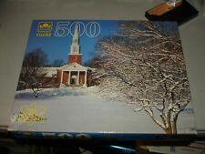 "Golden Guild ""Massachusetts Church"" #4615-50 500 Piece Puzzle, Brand New/Sealed"