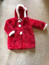 Girls 6 Christmas Santa Jacket Coat Red White Faux Fur American Widgeon