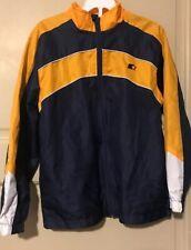 Boys Starter Jacket Size 10/12 New Blue Yellow White Zip Up New Light Coat Mesh
