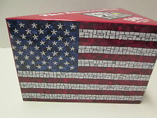 The American Flag 2-Sided Jigsaw Puzzle in 3-Sided Box, 500 Pieces