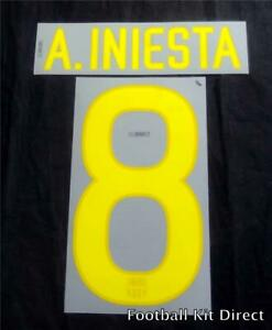 Official Barcelona A.Iniesta 8 2011-12 Football Name Set Home & Away