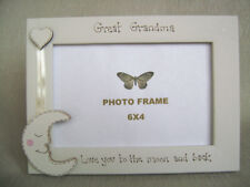 Personalised Photo Frame 6x4 Inch. Great Grandmother Love You to The Moon and