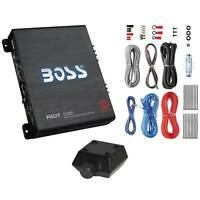 Boss Audio Riot 1100W Monoblock A/B Car Audio Amplifier with Remote & Wiring Kit