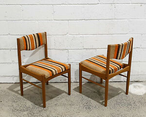Mid Century Modern Teak Dining Side Chairs by Chiswell Furniture Retro Vintage