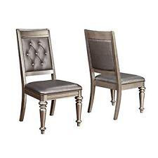 Coaster Home Furnishings 106472 Chair Metallic Platinum Pack Of 2  NEW