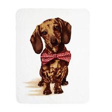 Dreamscene Sausage Dog Faux Fur Animal Print Mink Throw Large Fleece Blanket Bed