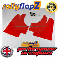 Rally Style Mud flaps to fit CITROEN C4 Coupe Mudflaps Set of 4 Red 3mm PVC