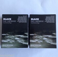 2x Negro Tinta LC900 NO OEM alternativa para Brother mfc-5440cn, mfc-5840cn