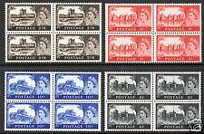 GB 1967 Castle High Values SG759-762 unmounted mint set as blocks of 4 stamps