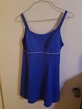 L.L Bean One Piece Bathing suits 2 colors built in bra Poke a dot Dresses M 58$