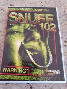 SNUFF 102 - RARE 2DVD EDITION - DVD - HORROR/SICK/EXPLOITATION
