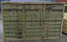 Garden Fencing - 6ft x 5ft Heavy Duty Pressure Treated Waney Lap Fence Panels