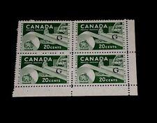 CANADA #O45a, OFFICIAL, G OVERPRINT BLOCK/4, L/R, MNH, NICE! LOOK!
