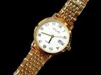 Orologio Da Polso Donna KB-5557-B Analogico Quarzo Classico Oro Quad Bianco lac