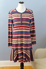 RALPH LAUREN Jeans Co Sz XL Cotton Stripe Southwest Henley Dress NWT